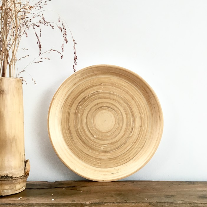 assiette bang en bambou naturel bibol la boutique de lodge. Black Bedroom Furniture Sets. Home Design Ideas