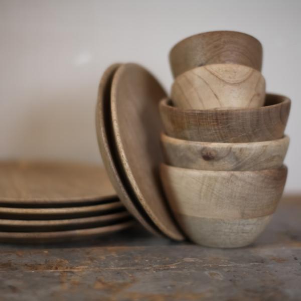 collection artisan en bois de manguier