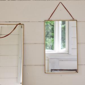 miroir rectangulaire kiko doré