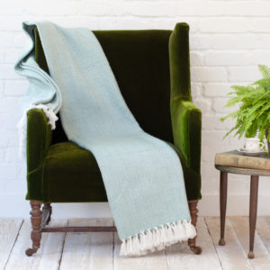 plaid weaver green azur