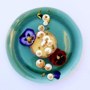 assiette à dessert emeraude