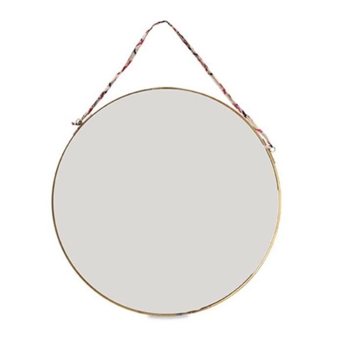 grand miroir kiko rond en laiton la boutique de lodge. Black Bedroom Furniture Sets. Home Design Ideas