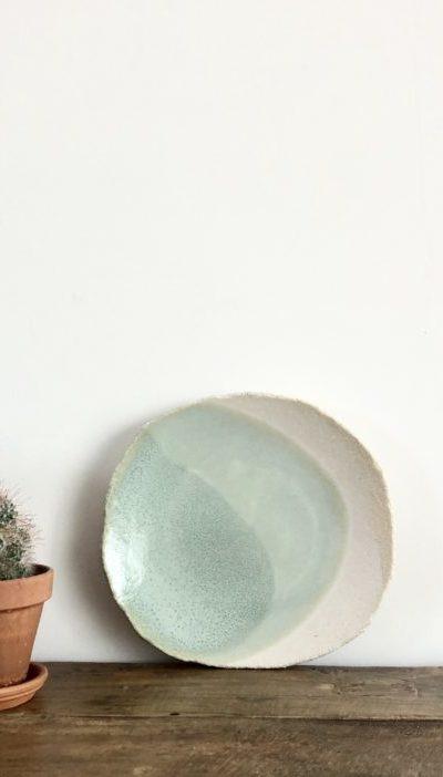 Petite assiette Wabi verte Jars céramistes