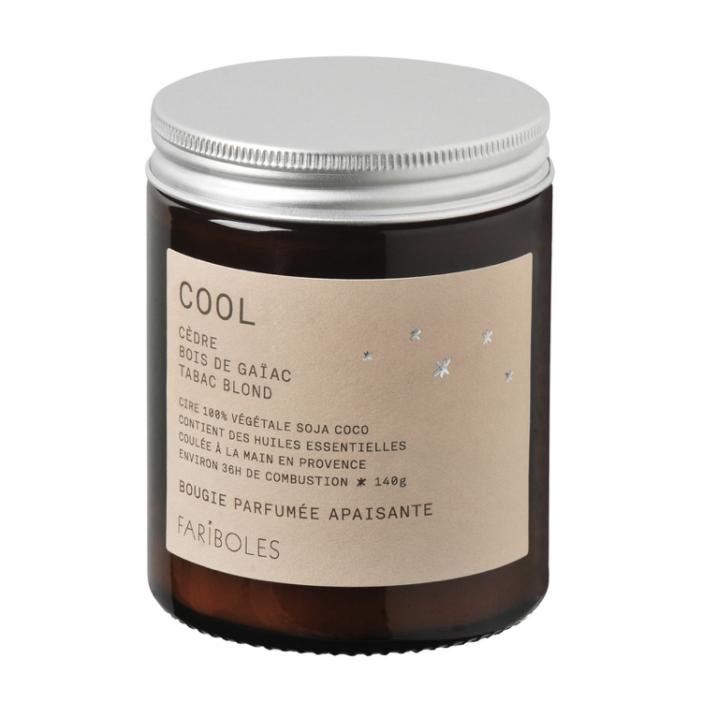 bougie naturelle cool fariboles, fabriqué en france, lodge boutique