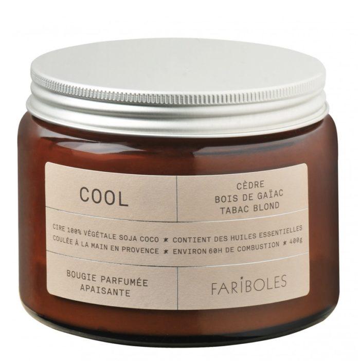 bougie naturelle fariboles, fabriquée en france, lodge boutique
