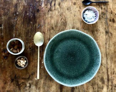 Assiette ronde L Maguelone Vert Orage
