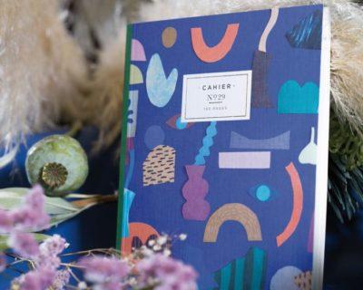 """Cahier Maison Fondée N°29 motif """"Klin d'oeil Blue"""""""