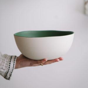 saladier cresson, collection jardin de Maguelone, Jars céramistes, Lodge boutique