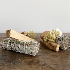 kit flower sauge et palo santo, lodge boutique