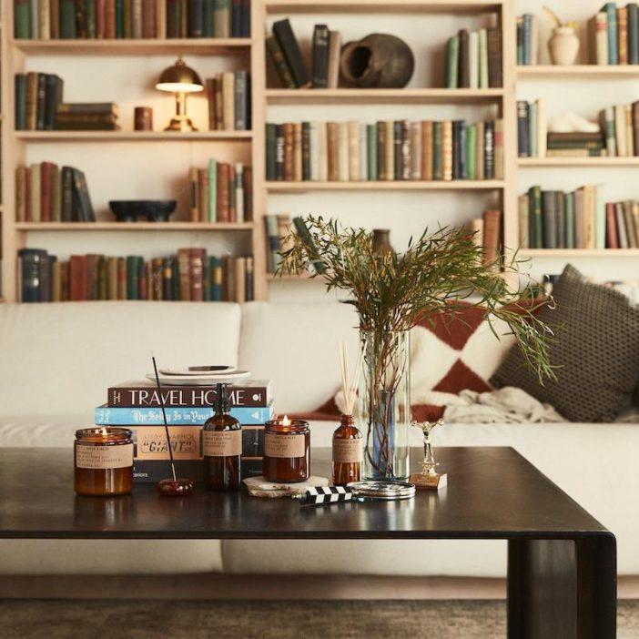 diffuseur pd candle co, senteur amber & moss, lodge boutique
