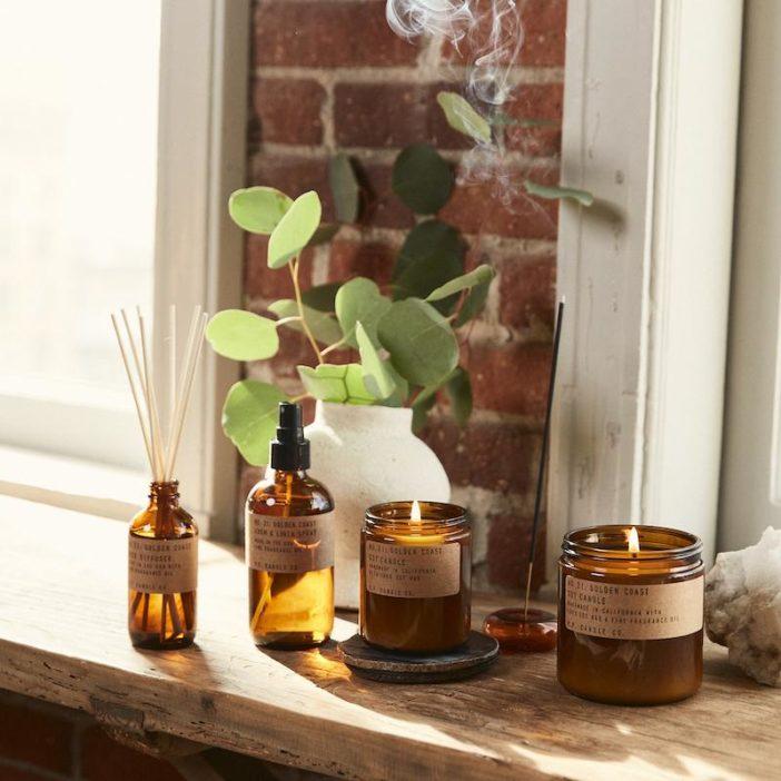 diffuseur pf candle co, parfum golden coast, lodge boutique