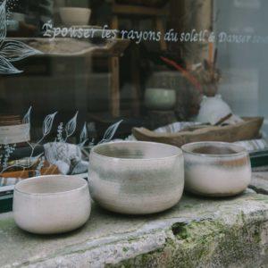 saladier koom nuances naturel, fabriqué en France par Les Guimards, Lodge boutique