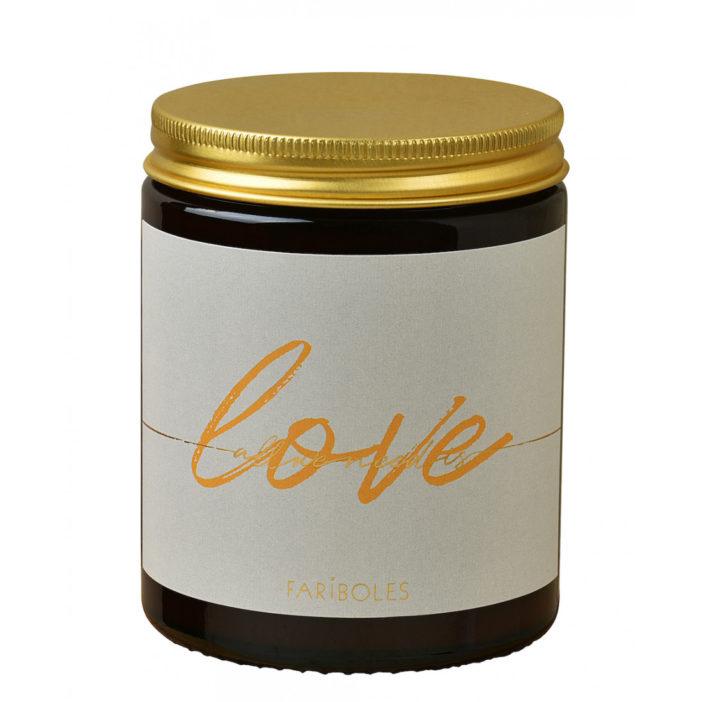 bougie naturelle LOVE, Fariboles, Lodge boutique