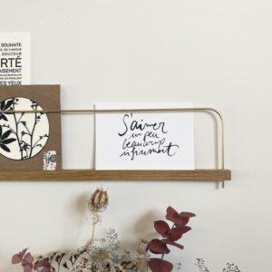 """carte """"s'aimer, un peu, beaucoup, infiniment"""", lodge boutique"""