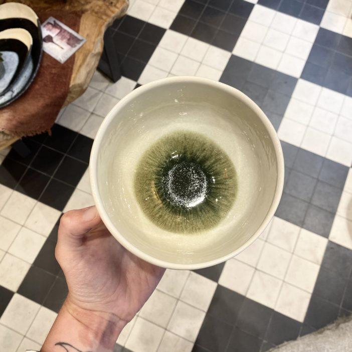 bol dashi vert olive, jars céramistes, lodge boutique
