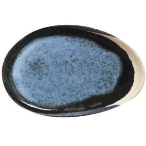 Plat Wabi Awa bleu, jars céramistes, lodge boutique