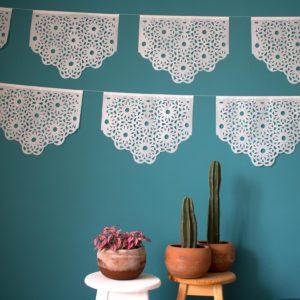 guirlande mexicaine en papier de soie, lodge boutique