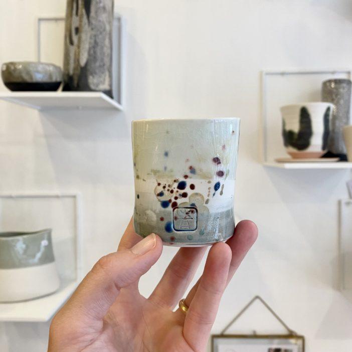 tasse en porcelaine flower, sylvie espagnol, lodge boutique