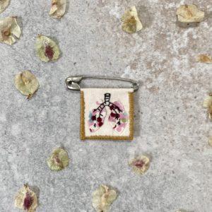 Broche Poumon en fleurs, lodge boutique